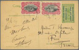 Belgisch-Kongo: 1918-21, Occupation Of German East Africa Postal Stationerys, 13 Overprinted Picture Postcards Including