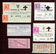Firenze / Florence - 6 Tickets (1962). - Biglietti D'ingresso