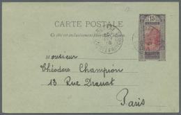 Französisch-Guinea: 1893 - 1960: Kleine Partie Von 28 Belegen Dabei Auch Einige Von Französisch-Westafrika, Br