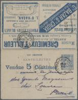 Frankreich - Ganzsachen: 1875/1910 (ca.), Sammlung Von Etwa 140 Alten Ganzsachen Bzw. Postkarten-Vordrucken Mit Vielen I