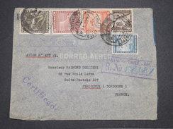 CHILI - Enveloppe De Santiago Pour La France En 1939 Par Avion , Affranchissement Plaisant - L 7891 - Chili