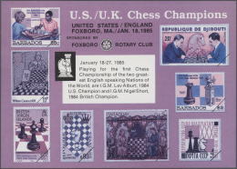 Thematik: Spiele-Schach / Games-chess: 1960/2000 (approx), Various Countries. Accumulation Of 54 Items Showing A Great V