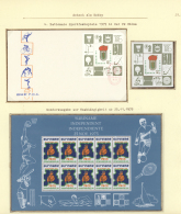 Thematik: Spiele-Schach / Games-chess: 1943/1986 (ca.), Extraordinary Exhibition Collection In 14 Volumes Documenting Th