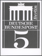 "Thematik: Bauwerke-Brandenburger Tor / Buildings-Brandenburg Gate: 1966/1967, Bundesrepublik Deutschland, Dauerserie ""Br"