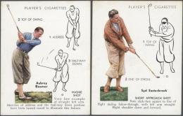 Thematik: Sport-Golf / Sport-golf: 1939, ZIGARETTENBILDCHEN: Komplette Original-Serie Mit 25 Verschiedenen Golfern Sowie