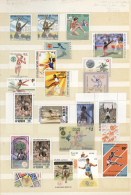 Thematik: Sport-Leichtathletik / Sports-athletics: 1960/2000 (ca.), LONG JUMP, Mint Collection Of Apprx. 180 Stamps, Unu
