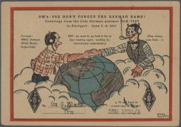 Thematik: Rundfunk-Radio / Broadcasting-radio: Ab 1915 (ca.), Europa, Posten Von Ca. 1270 Belegen Mit Briefen, Ganzsache