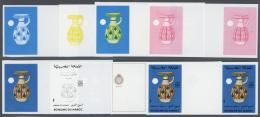 Thematik: Porzellan-Keramik / Porcelain-ceramics: 1982, Morocco. Lot Containing Progressive Proofs (8 Phases) For The Bl