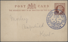 """Thematik: Leuchttürme / Lighthouses: 1891/2012, Accumulation In A Stockbook, From GB Stationery Card """"ROYAL NAVAL E"""