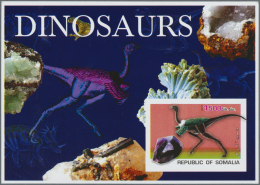 Thematik: Tiere-Dinosaurier / Animals-dinosaur: 1970/2000 (ca.), Assortment Of 30 Positions Incl. Specialities (gold And