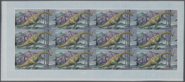 Thematik: Tiere-Dinosaurier / Animals-dinosaur: 1968, Fujeira. Progressive Proofs Set Of Sheets For The Airmail Values O
