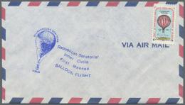 "Thematik: Ballon-Luftfahrt / Balloon-aviation: 1988, USA, Cinderella Stamp ""FIRST REPUBLICAN SENATORIAL INNER CIRCLE MAN"