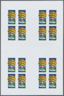 Thematik: Ballon-Luftfahrt / Balloon-aviation: 1983, Aitutaki. Progressive Proofs Set Of Sheets For The Issue BICENTENAR