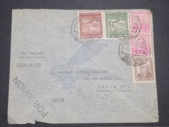 CHILI - Enveloppe De Santiago Pour La France En 1936 Par Avion , Affranchissement Plaisant - L 7893 - Chili