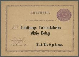 Schweden - Ganzsachen: 1880/1940 (ca.), Saubere Partie Von Ca. 128 Ungebrauchten Ganzsachen (Karten, Kartenbriefe Und Um