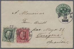 Schweden - Ganzsachen: 1880/1945 (ca.), Interesting Accumulation With 10 Used Postal Stationeries (postcards And Envelop