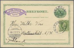Schweden - Ganzsachen: 1880/1960 (ca.), Reichhaltiger Bestand Von Ca. 1.170 Gebrauchten Ganzsachenkarten, Alles Mehr- Bi