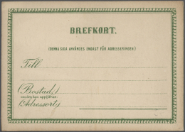 Schweden - Ganzsachen: 1880 - 1990 (ca.), Sammlung Von Etwa 160 überwiegend Ungebrauchten Ganzsachen, Dabei Kartenb