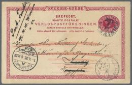 Schweden - Ganzsachen: 1872/1923, Interessante Kleine Sammlung Mit Ca. 25 Gebrauchte Ganzsachen-Umschlägen Und Kart