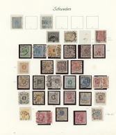 Schweden: 1855/1974, Mainly Used Collection In A Borek Binder, From 1855 4sk. Unused, Following Issues, 1856 And 1862 Lo