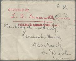 Thematik: Rotes Kreuz / Red Cross: 1914/1918, British Field Post WW I, Hospitals And Field Ambulance Units, Lot Of 16 Co