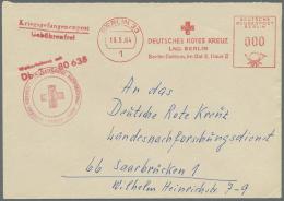Thematik: Rotes Kreuz / Red Cross: 1882/1986 (ca.), Europa/Übersee, Nette Sammlung Von 170 Meist Versch. Belegen Mi
