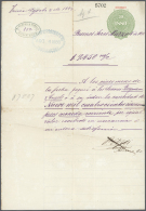Argentinien - Besonderheiten: 1813/1916, Collection Of Apprx. 120 Fiscal Documents Used/unused, Watermarked Sheets With