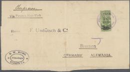 Nicaragua: 1897/1913, 6 Belege In Sehr Unterschiedlicher Erhaltung, Dabei 2 Drucksachen-Päckchenadressen, U.a. Bess