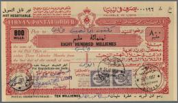 Libyen: 1957 - 1959, Wonderful Lot Of Libyan Postal Stationerys - Postal Orders - From 100 Milliemès To 1 LP, 16