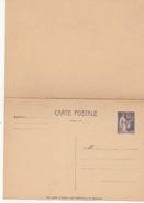 FRANCE -ENTIERS POSTAUX-CARTE POSTALE SUR 55c VIOLET TYPE PAIX  N° 363