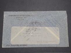 PEROU - Enveloppe En Recommandé De Lima Pour La France Par Avion En 1938 , Affranchissement Au Verso Plaisant - L 7899 - Pérou