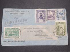 PEROU - Enveloppe  De Lima Pour La France Par Avion En 1936 , Affranchissement Plaisant - L 7901 - Pérou