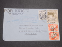 PEROU - Enveloppe En Recomandé De Lima Pour La France Par Avion En 1948 , Affranchissement Plaisant - L 7902 - Peru