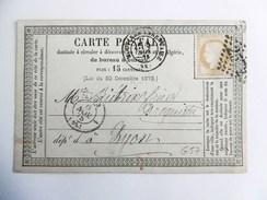 Carte Postale Précurseur Avec Cérès N°55 De Moutier Vers Lyon