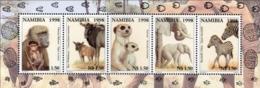 NAMIBIA 1998 Elephants, Mammals, Monkeys, Zebras, Fauna MNH