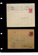 Austria, 10 Heller Envelope Used WIEN 1907 > BERLIN; 3Heller Wrapper Fragment Used 1906 WIEN,