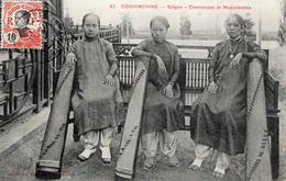 INDOCHINE VIETNAM COCHINCHINE SAIGON CHANTEUSES ET MUSICIENNES- CPA N°62 - Vietnam