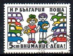 BULGARIE. N°3213 Oblitéré De 1988. Sécurité Routière.