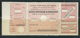 FRANCE Colis Postaux Paris Pour Paris N° 52 **