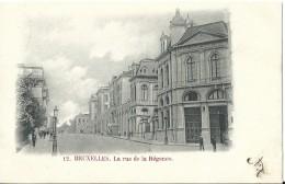 Brussel Bruxelles La Rue De La Régence - Avenues, Boulevards