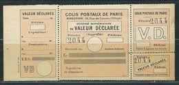 FRANCE Colis Postaux Paris Pour Paris N° 33 **