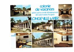 Cpm - 85 - LONGEVILLE SUR MER - COLONIE DE VACANCES - Automobiles PEUGEOT - Autres Communes