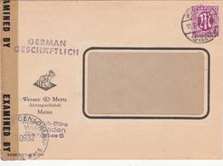 Firmen Brief Zensur,   Wiesbaden Nach Mainz