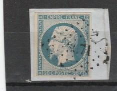 N°14Af  Bleu Laiteux - PC 3071 (ou 3671) Belles Marges  - Sur Fragment