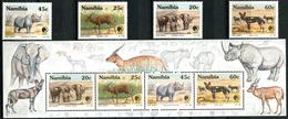 NAMIBIA 1993 Endangered Species, Elephants, Rhino, Fauna MNH