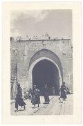 Cpa Carte-photo, Liban, Syrie, Palestine ? Porte De La Ville - Liban