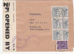 Brief Zensur, Bonn  Nach Wien, Österreichische Zensur