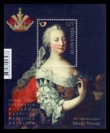 Slovenia 2017 Mih. 1246 (Bl.96) Empress Maria Theresa (joint Issue Slovenia-Austria-Croatia-Hungary-Ukraine) MNH ** - Slovenia