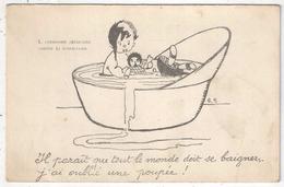 H.S. - Bain - Poupée - Commission Américaine Contre La Tuberculose - Andere Illustrators