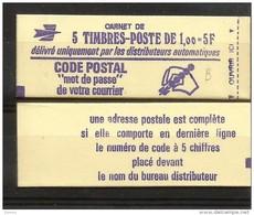 FR  1972-C1  **   (MNH) Code Postal - Carnets